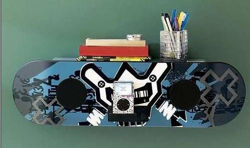 滑板外形的iPod底座问世
