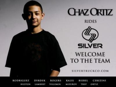 Chaz Ortiz加入Silver Trucks