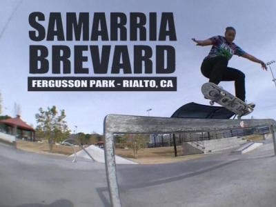 【板女动态】Samarria Brevard加州滑板剪辑