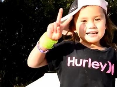 【板女动态】5岁滑板女神童