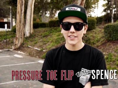 【滑板动作教学】 Pressure Toe Flip