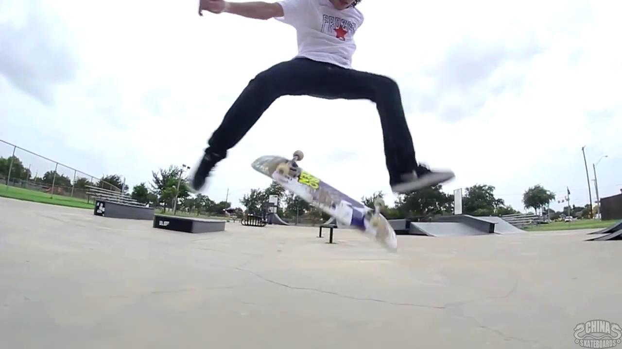 动作 滑板 教学 Nollie Flip