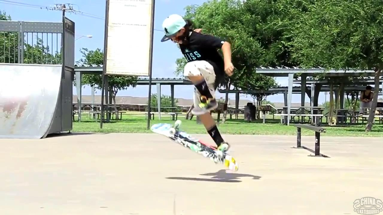 动作 滑板 教学 Jp Garcia Pressure Flip