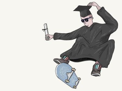 【盘问】滑板、求学两不误的新生代滑手