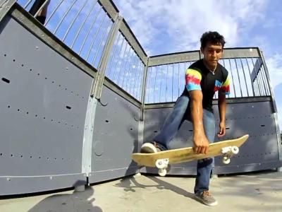 【滑板动作教学】 Boneless 360 -- Robby DeLeon