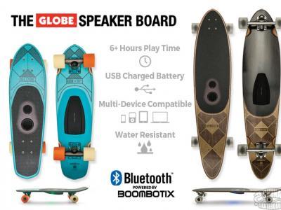 Globe 新科技,首款内置音响滑板发布
