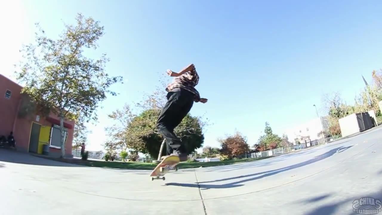 动作 滑板 教学 Backside 360 Kickflip