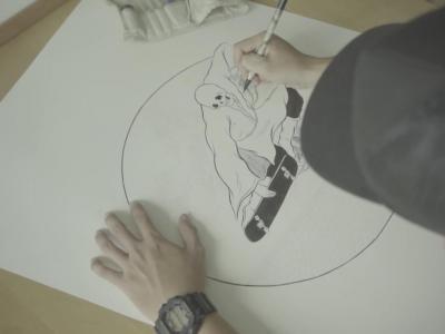 新加坡插画师Mister Tucks X Real最新Temple of Skate系列板面