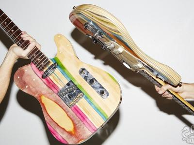 滑板制造:让废旧板面能唱歌
