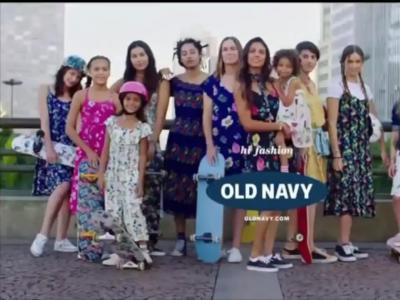 Old Navy 2017最新女生裙子系列|滑板题材广告