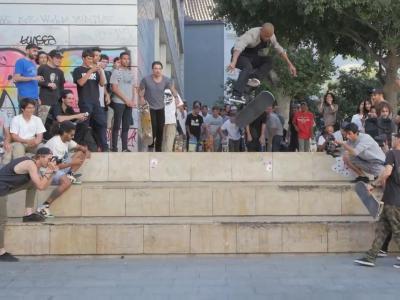 滑板天堂巴塞罗那-Cash for Tricks赛事轰炸经典大三阶