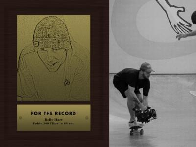 滑板记录:Kelly Hart一分钟Fakie 360 Flips动作挑战!