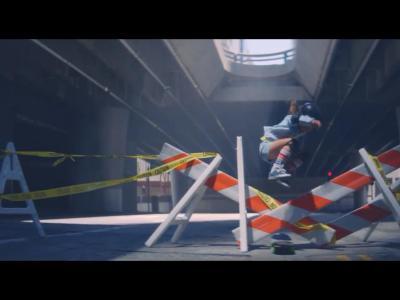9岁小姐姐SKY演绎超唯美广告片:「滑在空城洛杉矶」
