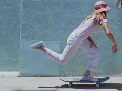 马萨诸塞州美女滑手Nora Vasconcellos演绎Stance最新系列袜子