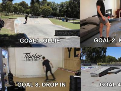 挑战不可能任务:一个月内学会Ollie,尖翻、Drop-In、50-50