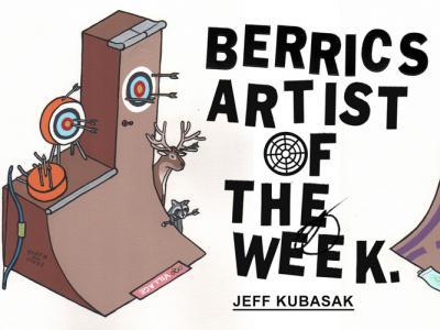 【滑板文艺】艺术家Jeff Kubasak插画:滑板是融不进奥运会的