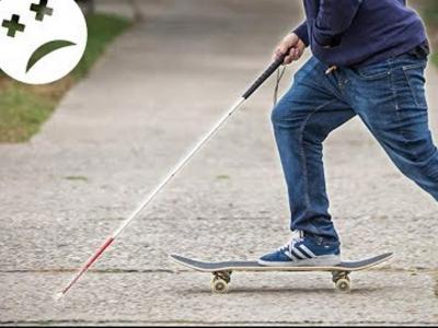 早起看片!盲滑手的滑板日常