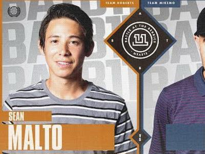 BATB 11平地大战第一场打响:Sean Malto vs. Eric Koston