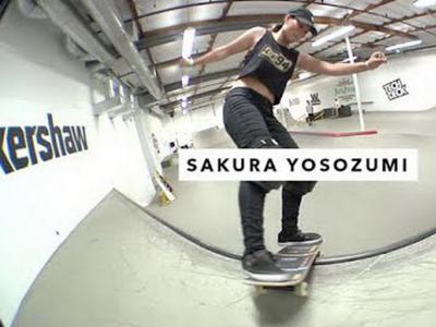 16岁日本女滑手Sakura Yosozumi作客TWS板场