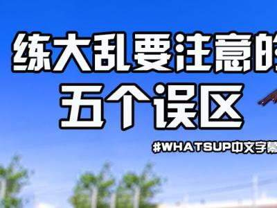 [中文字幕]超实用教学:练大乱要避免的五个误区!