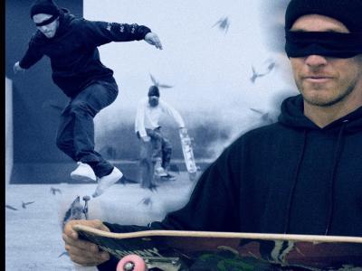 蒙眼滑板动作挑战:David Reyes & Brian Hansen