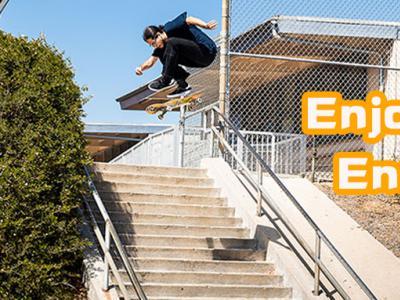 【盘问】Hardflip下20层台阶的Enjoi新晋职业滑手Enzo Cautela