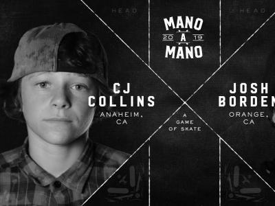 Mini Ramp上的S.K.A.T.E,第一场:CJ Collins vs. Josh Borden