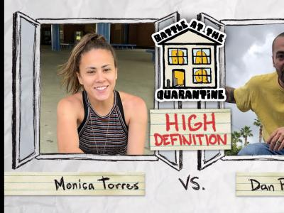 BATB平地大战疫情隔离版:女滑手Monica Torres Vs. Dan Plunkett