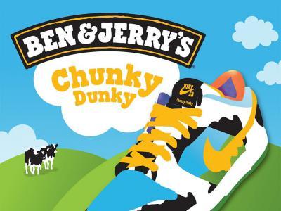 跨界联名,Nike SB x冰淇淋厂商Ben&Jerry缤纷之作!