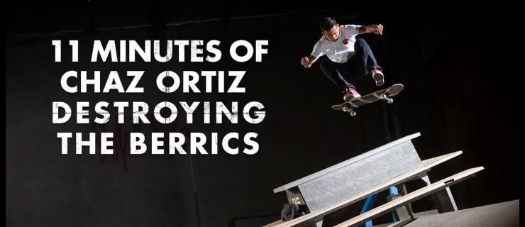 """叉子来袭!Chaz Ortiz 11分钟Berrics板场""""破坏记录""""公开"""