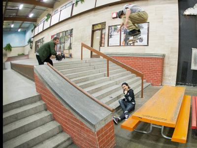 Chris Joslin在Berrics挑战最长距离的Bs Flip